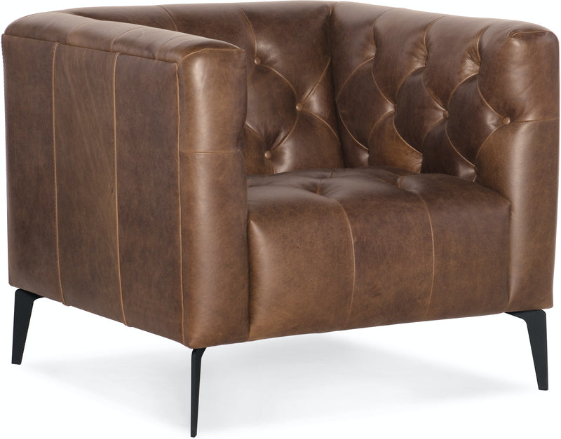 Hooker Furniture Living Room Nicolla Leather Stationary Chair