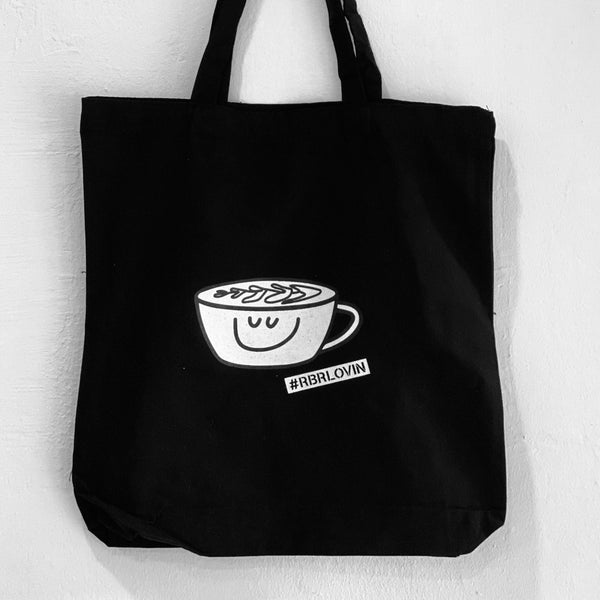 Happyness in a cup Tote Bag tote bag roundboyroasters