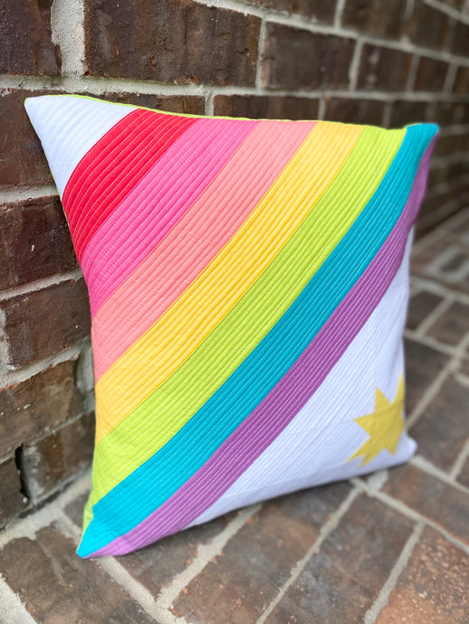 Rainbow Sunshine Pillow & Mini Quilt