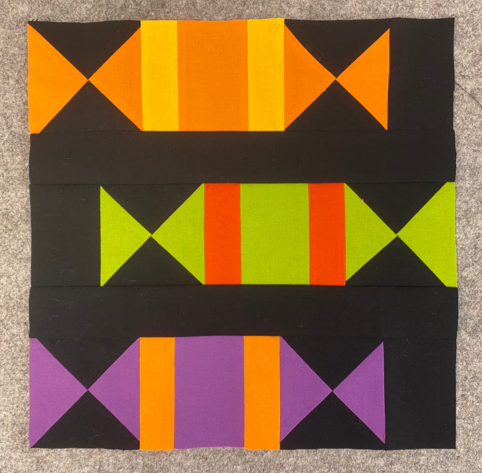 Three Treats Block - September's #quiltblockmania