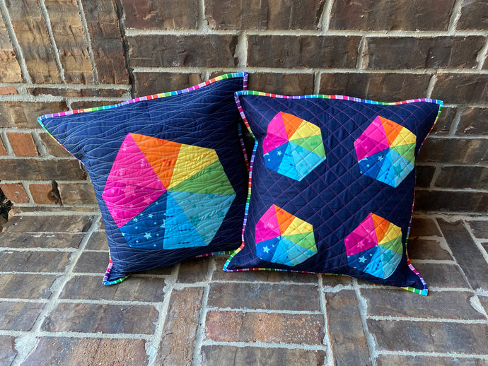Create Rainbow Wonky Umbrella Pillows