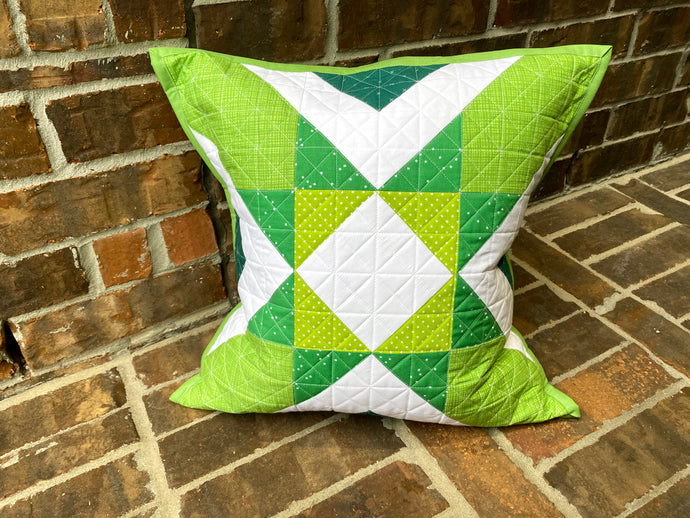 St. Patrick's Day Amish Star Remix Pillow + Envelope Pillow Backing Tutorial