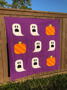 Ghouls and Gourds Halloween Quilt Pattern (PDF)