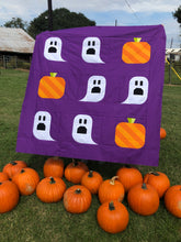 Load image into Gallery viewer, Ghouls and Gourds Halloween Quilt Pattern (PDF)