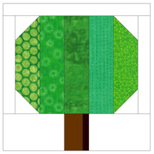 Load image into Gallery viewer, Simple Tree Quilt Block Pattern (PDF)