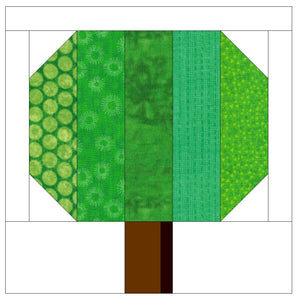Simple Tree Quilt Block Pattern (PDF)