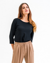Ribbed-knit Viscose Top
