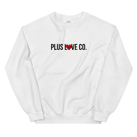 Plus Love Co. Foundation Sweatshirt - White - Big & Tall
