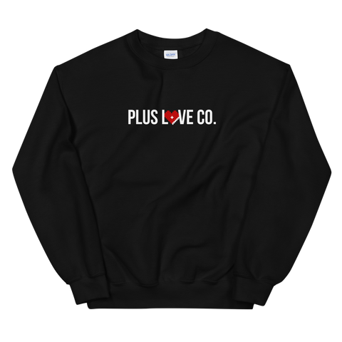 Plus Love Co. Foundation Sweatshirt - Black - Big & Tall