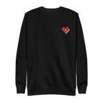 Plus Love Co. Heart Sweatshirt [Embroidered] - Black