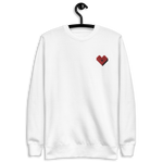 Plus Love Co. Heart Sweatshirt [Embroidered] - White