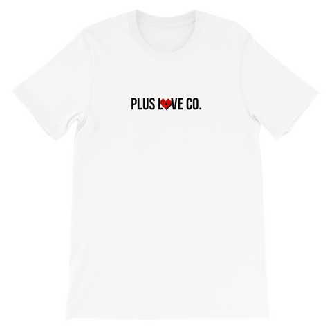 Plus Love Co. Foundation Tee - White
