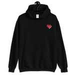 Plus Love Co. Heart Hoodie [Embroidered] - Black - Big & Tall
