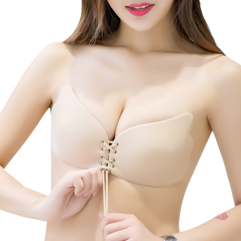 Invisible Bra Super Push Up Seamless Self-Adhesive