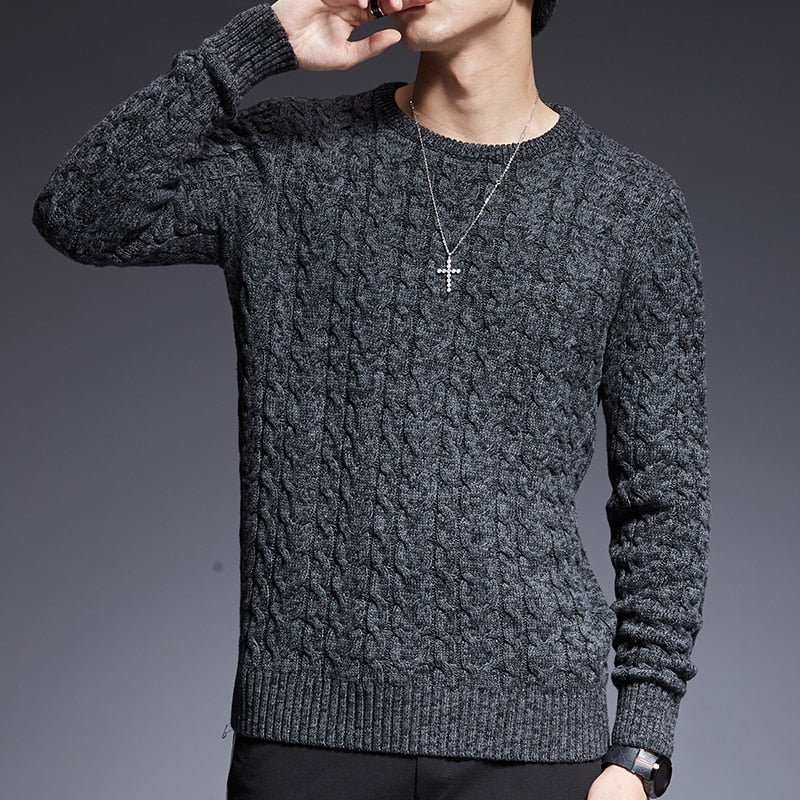 Langbeeyar Knitted Slim Fit Casual Sweater