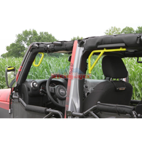 Steinjager J0041253 Jeep Wrangler JK Grab Handles 2007-2018 Rigid Design Front and Rear for 4 Door JKU Yellow