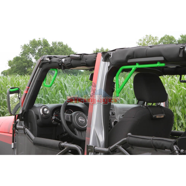 Steinjager J0041254 Jeep Wrangler JK Grab Handles 2007-2018 Rigid Design Front and Rear for 4 Door JKU Neon Green