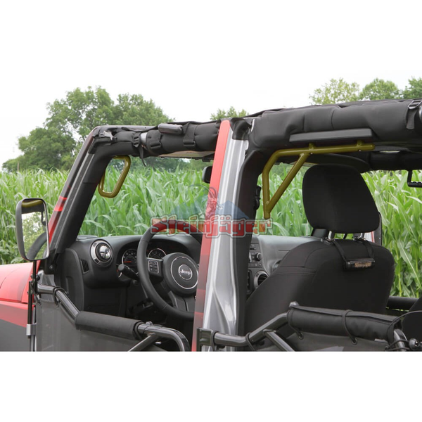Steinjager J0041256 Jeep Wrangler JK Grab Handles 2007-2018 Rigid Design Front and Rear for 4 Door JKU Locas Green