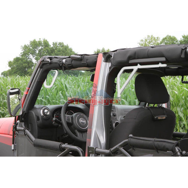Steinjager J0043594 Jeep Wrangler JK Grab Handles 2007-2018 Rigid Design Front and Rear for 4 Door JKU White
