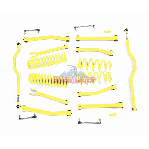 Steinjager J0046560 Jeep Wrangler JK Lift Kit 2007-2018 4 Inch Neon Yellow