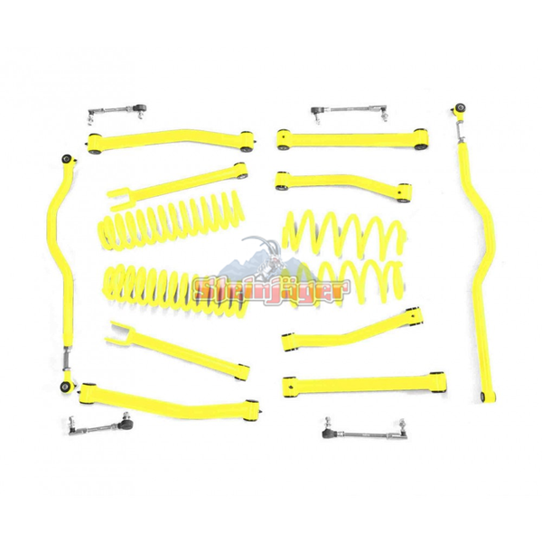 Steinjager J0046964 Jeep Wrangler JK Lift Kit 2007-2018 2.5 Inch Neon Yellow