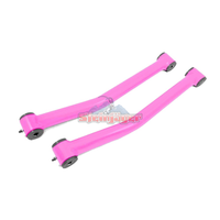 Steinjager J0046999 Jeep Wrangler JK Control Arms 2007-2018 2.5-4.0 Inch Lift Control Arms, Front Lower Pink