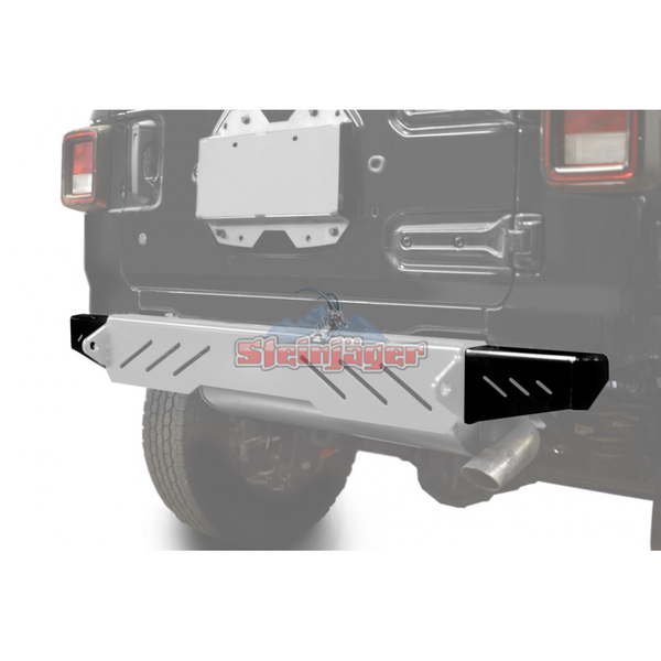 Steinjager J0048588 Jeep Wrangler JL Bumpers 2018 to Present Bumper End Caps, Rear Cap Style Bare