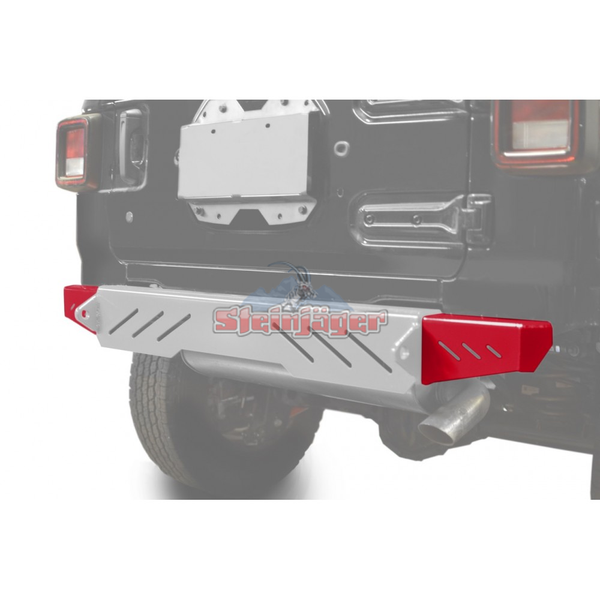 Steinjager J0048591 Jeep Wrangler JL Bumpers 2018 to Present Bumper End Caps, Rear Cap Style Red
