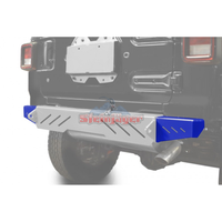 Steinjager J0048592 Jeep Wrangler JL Bumpers 2018 to Present Bumper End Caps, Rear Cap Style Southwest Blue