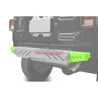 Steinjager J0048595 Jeep Wrangler JL Bumpers 2018 to Present Bumper End Caps, Rear Cap Style Neon Green