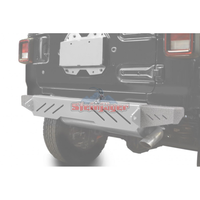 Steinjager J0048600 Jeep Wrangler JL Bumpers 2018 to Present Bumper End Caps, Rear Cap Style Gray