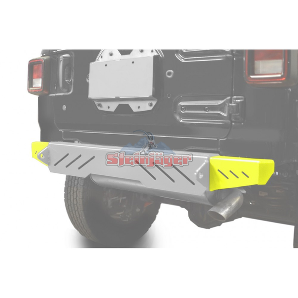 Steinjager J0048603 Jeep Wrangler JL Bumpers 2018 to Present Bumper End Caps, Rear Cap Style Neon Yellow