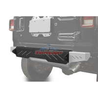 Steinjager J0048628 Jeep Wrangler JL Bumpers 2018 to Present Bumper, Rear Cap Style Texturized Black