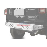 Steinjager J0048631 Jeep Wrangler JL Bumpers 2018 to Present Bumper, Rear Cap Style White