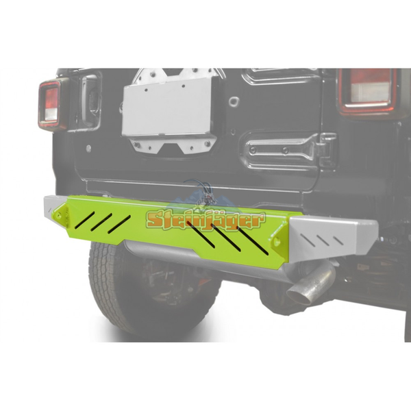 Steinjager J0048633 Jeep Wrangler JL Bumpers 2018 to Present Bumper, Rear Cap Style Gecko Green