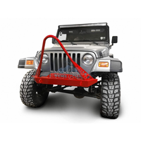 Steinjager J0049287 Jeep Wrangler TJ Front Bumper with Stinger 1997-2006 Red