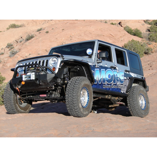 JFB501PC- M.O.R.E. Rock Proof Black Front Bumper With Tube Work Jeep Wrangler JK 2007-2014
