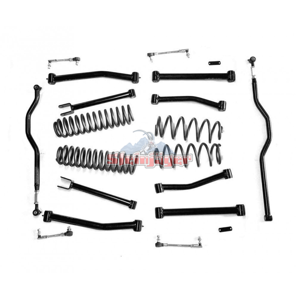 "Steinjager 4"" Lift Kit Non Adjustable, Complete for Jeep Wrangler JK Lift Kit 2007-2018 J0041262"
