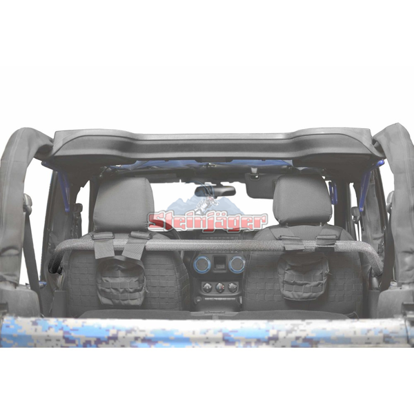 Steinjager Jeep Wrangler JK Harness Bar Kit 2007-2018 2 Door Gray Hammertone J0048518