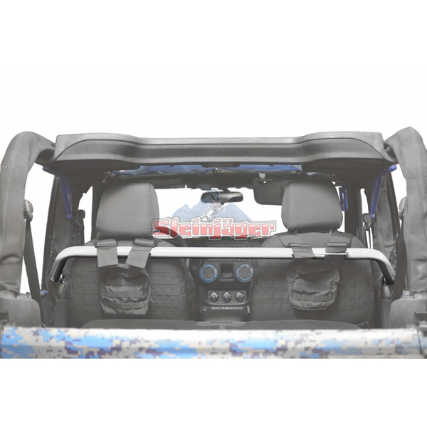 Steinjager Jeep Wrangler JK Harness Bar Kit 2007-2018 2 Door  White J0048520