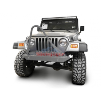Steinjager Jeep Wrangler TJ Front Bumper with Stinger 1997-2006 Gray Hammertone J0049296