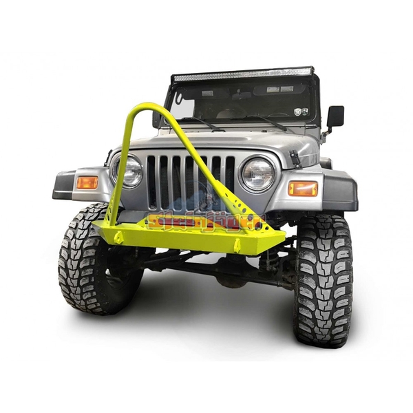 Steinjager J0049299 Jeep Wrangler TJ Front Bumper with Stinger 1997-2006 Neon Yellow