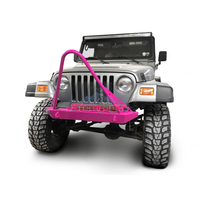 Steinjager Jeep Wrangler TJ Front Bumper with Stinger 1997-2006 Hot Pink J0049301