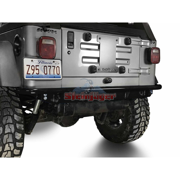 Steinjager J0049303 Rear Bumper Fits Jeep Wrangler TJ 1997-2006. Rear Bumper. Black