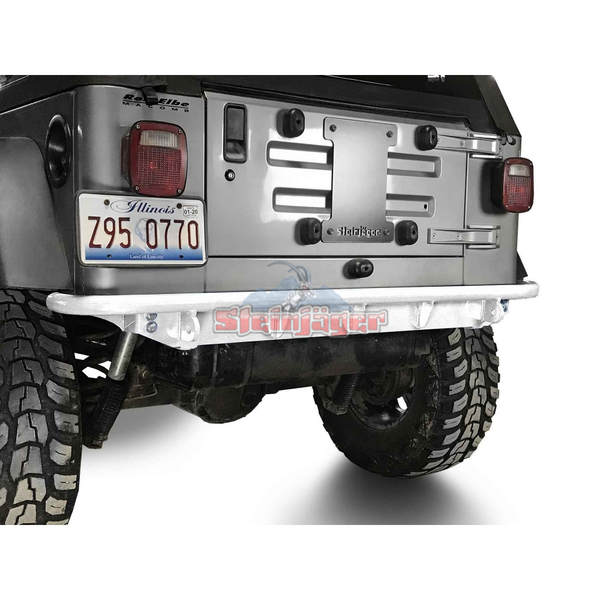 Steinjager Rear Bumper Fits Jeep Wrangler TJ 1997-2006. Rear Bumper. Cloud White J0049316