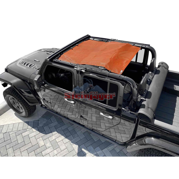 Steinjager Gladiator JT Tops, Fabric Teddy Fits Jeep Gladiator JT, 4 Door Orange J0049321