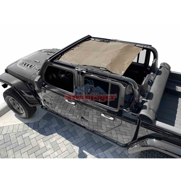 Steinjager Gladiator JT Tops, Fabric Teddy Fits Jeep Gladiator JT, 4 Door J0049325