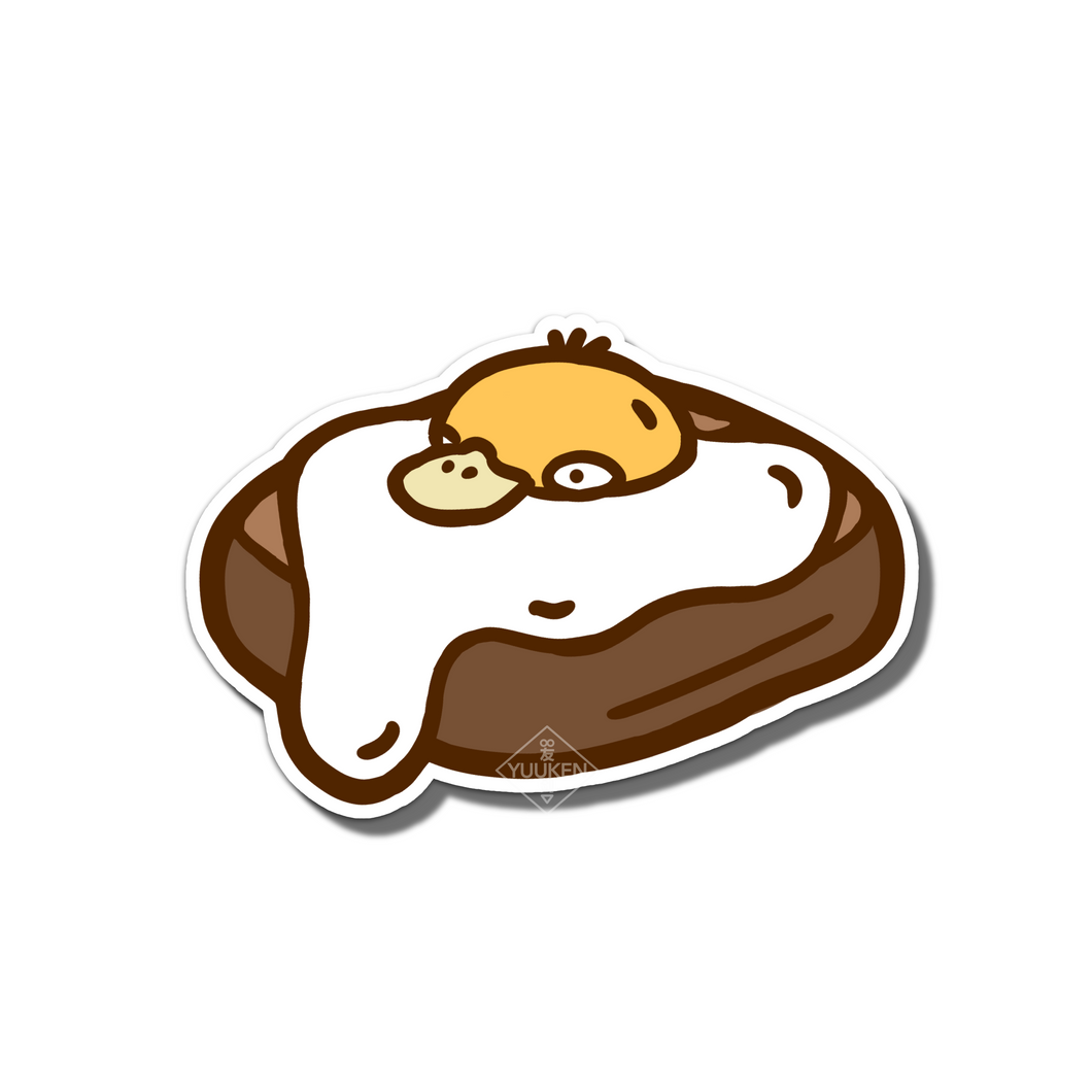 #105 Psyduck Egg Toast Vinyl Sticker