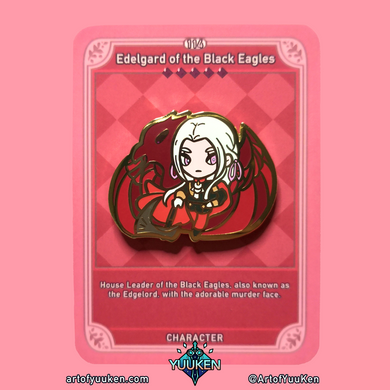 114 B Grade Edelgard of the Black Eagles Enamel Pin