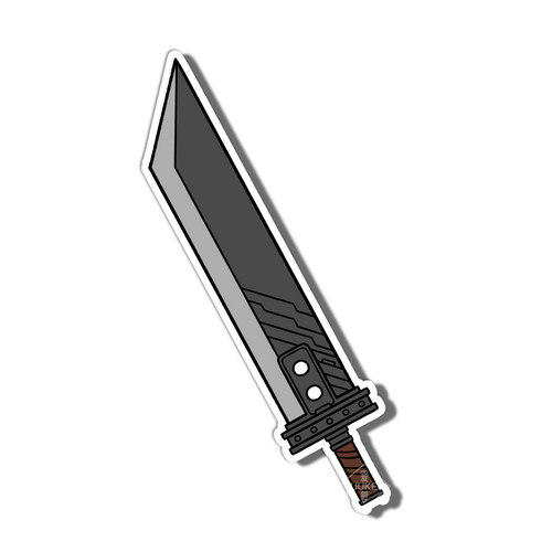 #117 Buster Sword Vinyl Sticker